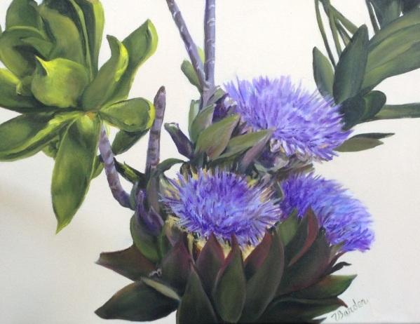 Artichoke Blossoms by Velma Barder